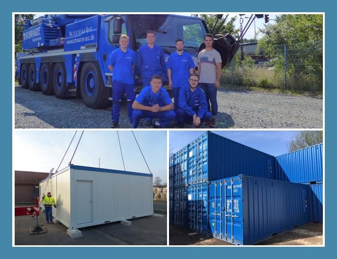 Schwarze Container Containerhandel Container mieten Garbsen Braunschweig Hannover Containerverkauf Lagercontainer