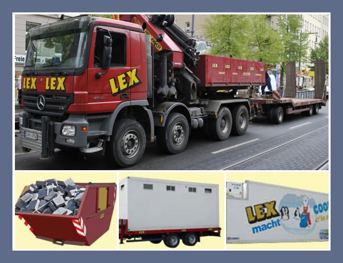 LEX Transport Und Vermiet GmbH Berlin Dresden Halle Sanitarcontainer Lagercontainer