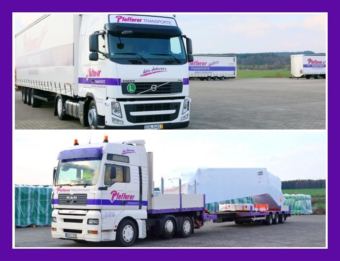 Pfefferer Transporte - Containerhandel in Monheim Nürnberg München Augsburg